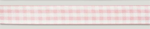 Pink Gingham Ribbon - 25mm